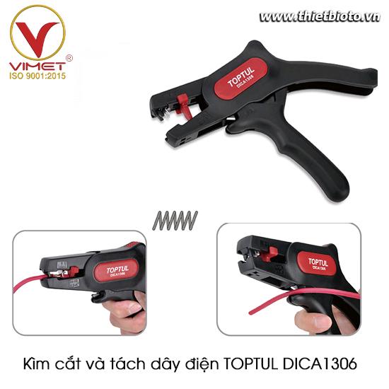 Kìm cắt và tách dây điện TOPTUL DICA1306