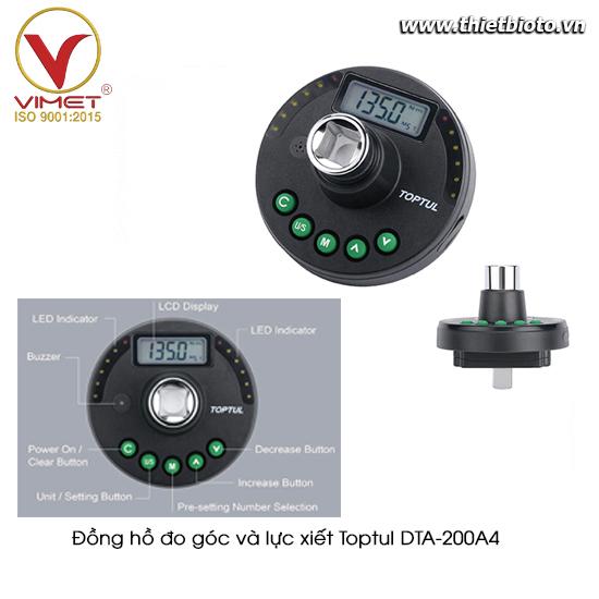 Đồng hồ đo góc và lực xiết  TOPTUL DTA-200A4