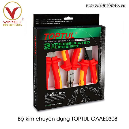 Bộ kìm chuyên dụng TOPTUL GAAE0308
