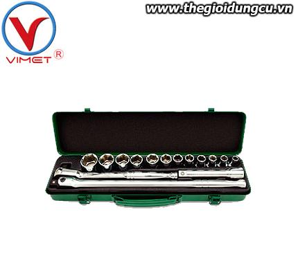 Bộ dụng cụ cần siết và đầu tuýp 1/2 Toptul GCAD1512