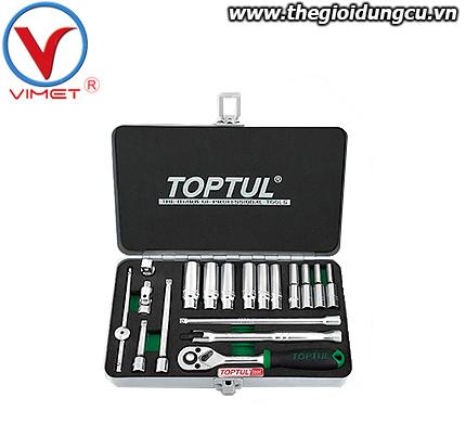 Bộ dụng cụ đồ nghề sửa chữa 18pcs Toptul GCAD1822