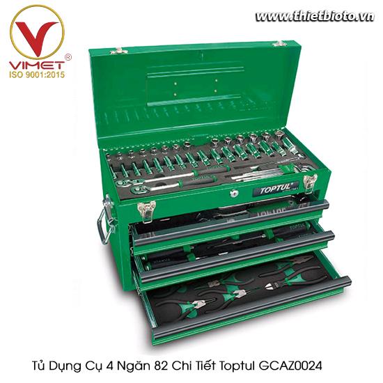 Tủ dụng cụ 4 ngăn Toptul 82 chi tiết GCAZ0024
