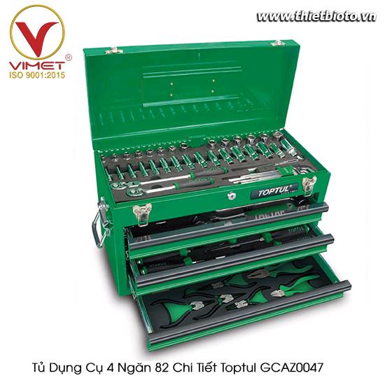 Tủ dụng cụ 4 ngăn Toptul 82 chi tiết GCAZ0047