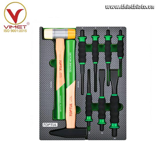 Khay dụng cụ cầm tay 9 chi tiết Toptul GEB0906