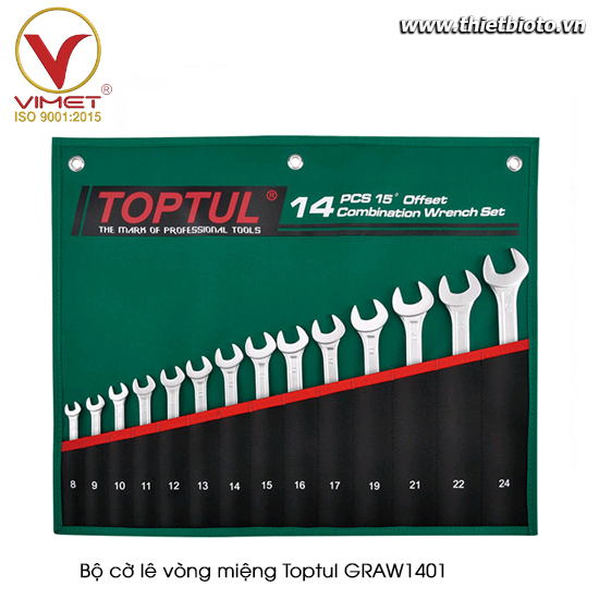 Bộ cờ lê vòng miệng TOPTUL GRAW1401