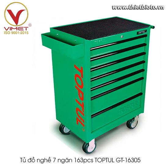 Tủ đồ nghề 7 ngăn 163pcs TOPTUL GT-16305