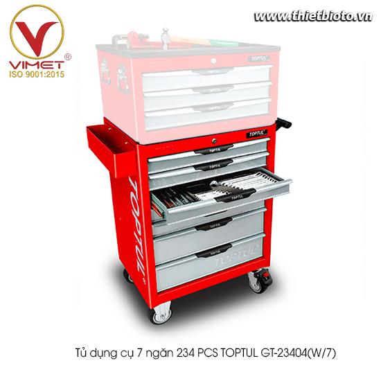 Tủ đựng dụng cụ 234PCS Toptul GT-23404(W/7)