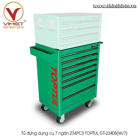 Tủ đựng dụng cụ 7 ngăn 234PCS TOPTUL GT-23405(W/7)