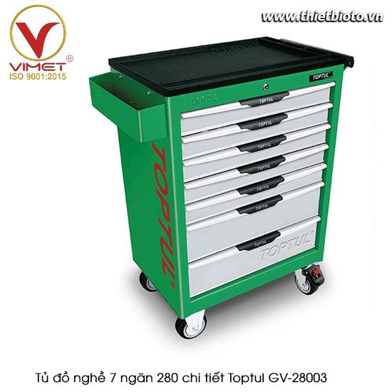 Tủ đồ nghề sửa chữa 7 ngăn 280pcs Toptul GV-28003
