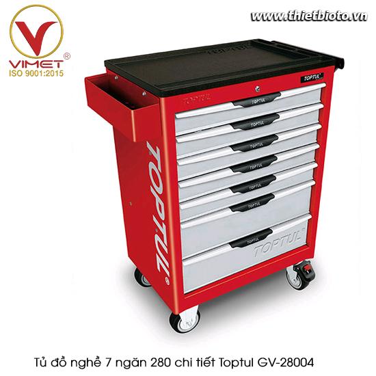 Tủ đồ nghề sửa chữa 7 ngăn 280pcs Toptul GV-28004
