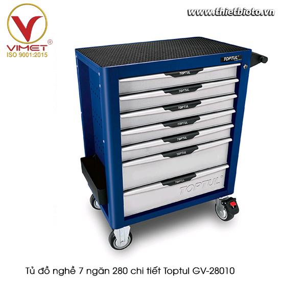 Tủ đồ nghề sửa chữa 7 ngăn 280pcs Toptul GV-28010
