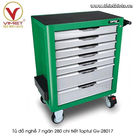 Tủ đồ nghề sửa chữa 7 ngăn 280pcs Toptul GV-28017