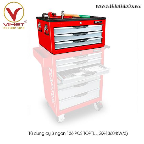 Tủ đựng dụng cụ 136PCS Toptul GX-13604(W/3)