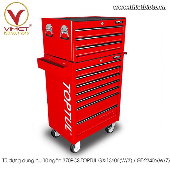 Tủ đựng dụng cụ 10 ngăn 370PCS TOPTUL GX-13606(W/3) / GT-23406(W/7)