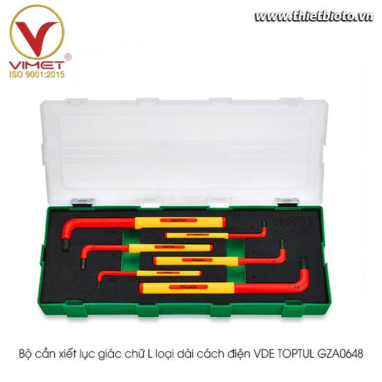 Bộ cần xiết lục giác chữ L loại dài cách điện VDE TOPTUL GZA0648