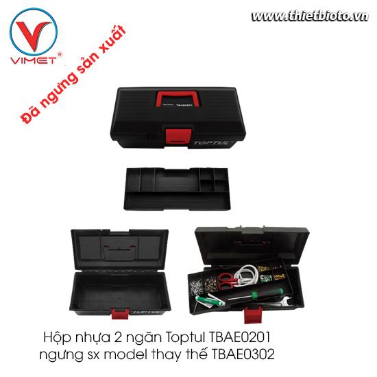 Hộp nhựa 2 ngăn Toptul TBAE0201 ngưng sx model thay thế TBAE0302