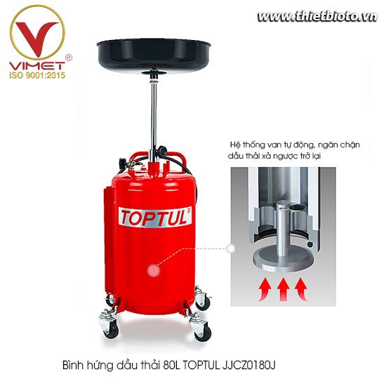 Bình hứng dầu thải 80L TOPTUL JJCZ0180J