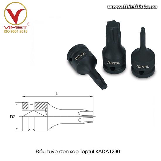 Đầu tuýp đen sao TOPTUL KADA1230