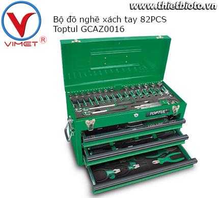 Tủ đồ nghề xách tay 82 chi tiết Toptul GCAZ0016