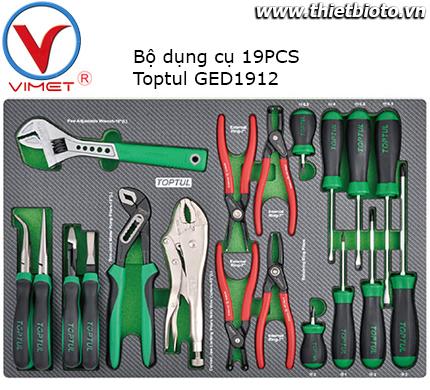 Bộ dụng cụ kìm tua vít bake 19 chi tiết Toptul GED1912