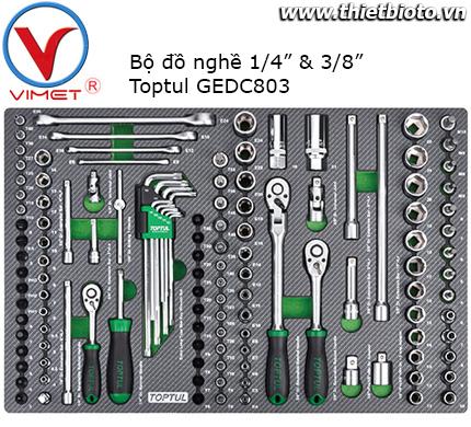 Bộ đồ nghề 128 chi tiết Toptul GEDC803