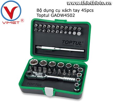 Bộ đồ nghề xách tay 45pcs Toptul GADW4502