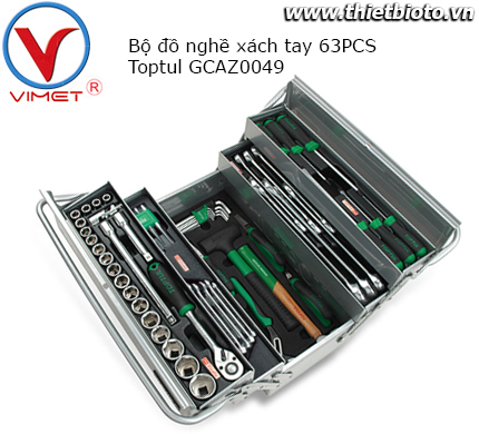 Bộ dụng cụ xách tay 63 chi tiết Toptul GCAZ0049