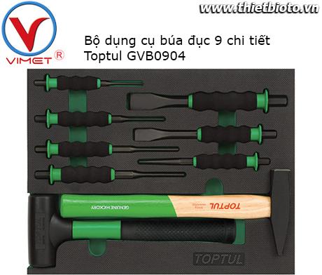 Bộ dụng cụ búa đục 9 chi tiết Toptul GVB0904