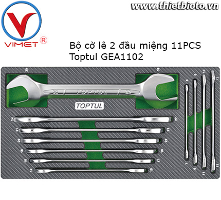 Bộ cờ lê 2 đầu hở 11 món Toptul GEA1102