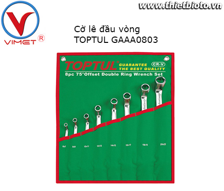 Bộ cờ lê vòng 8 món TOPTUL GAAA0803