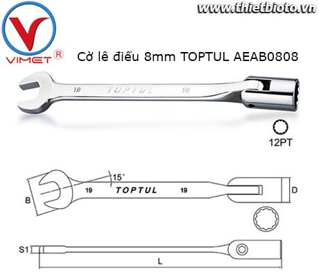 Cờ lê điếu 8mm TOPTUL AEAB0808