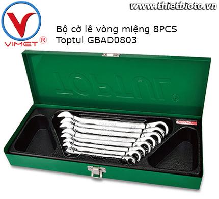 Bộ cờ lê vòng miệng 8 chi tiết Toptul GBAD0803