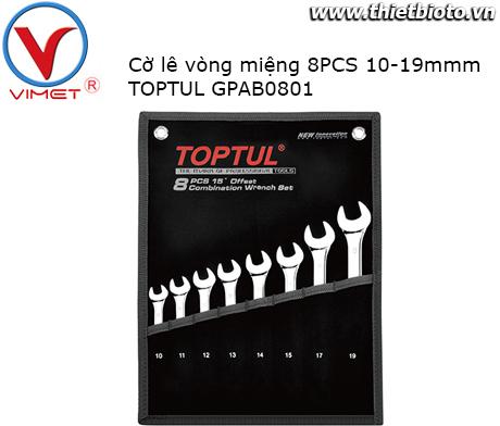 Bộ cờ lê vòng miệng 8PCS Toptul GPAB0801