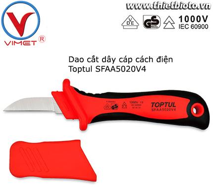 Dao cắt cáp điện lưỡi thẳng cách điện Toptul SFAA5020V4