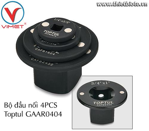 Bộ đầu chuyển 4 chi tiết Toptul GAAR0404
