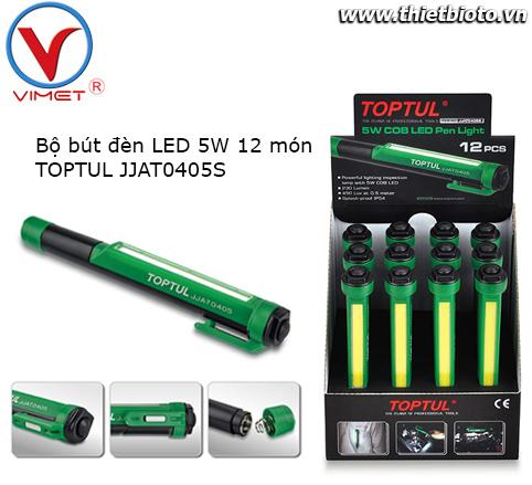 Bộ bút đèn LED 5W 12 món TOPTUL JJAT0405S