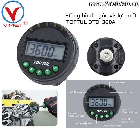 Đồng hồ đo góc và lực xiết Toptul DTD-360A