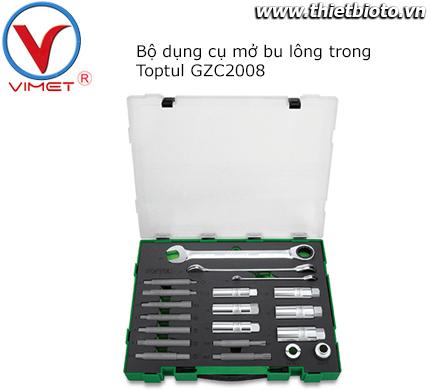 Bộ dụng cụ mở bu lông trong Toptul GZC2008