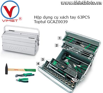 Hộp dụng cụ xách tay 63 chi tiết Toptul GCAZ0039