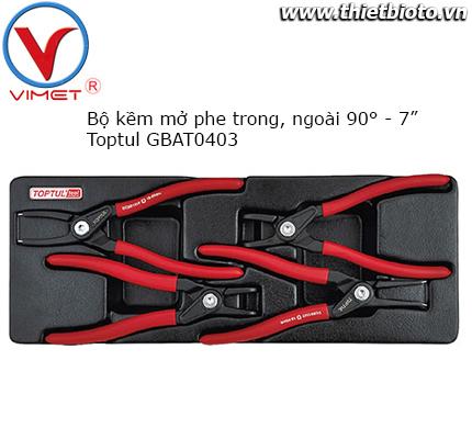 Bộ kìm mở phe 4 chi tiết cách điện Toptul GBAT0403
