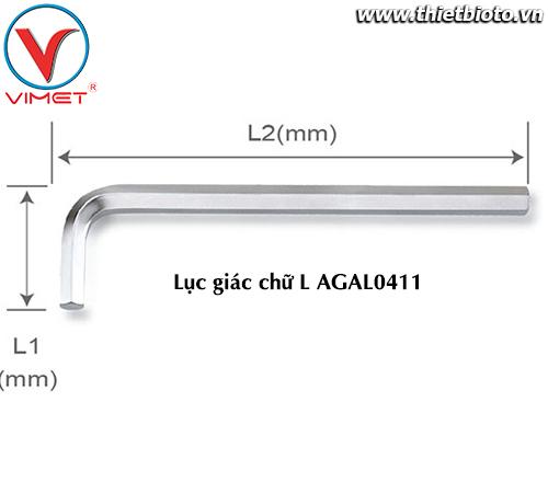 Lục giác chữ L (dài) 4mm TOPTUL AGAL0411