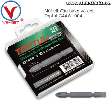 Bộ mũi vít đa năng 10pcs Toptul GAAW1004