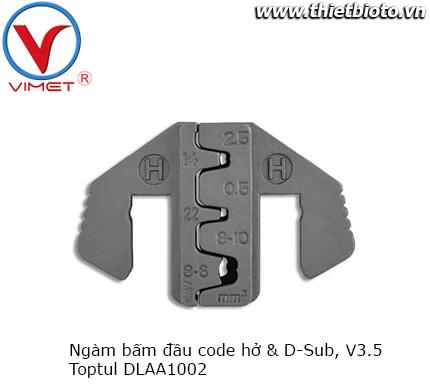 Ngàm bấm đầu code hở và D-Sub V3.5 Toptul DLAA1002