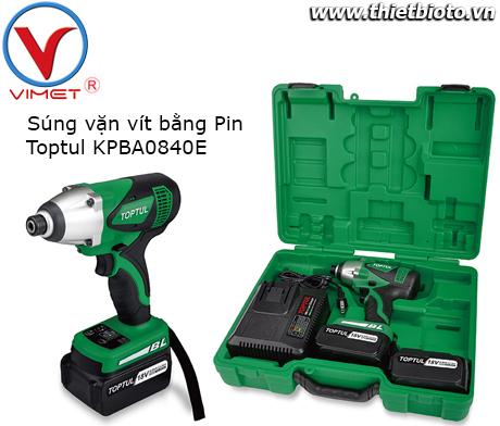 Súng vặn vít bằng Pin Toptul KPBA0840E