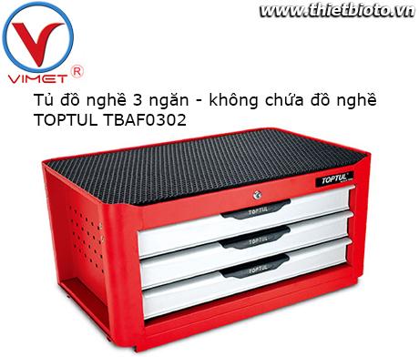 Tủ dụng cụ 3 ngăn không có đồ nghề TBAF0302