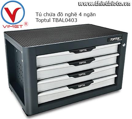 Tủ chứa đồ nghề 4 ngăn Toptul TBAL0403