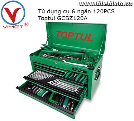Tủ đồ nghề 6 ngăn 120 chi tiết Toptul GCBZ120A