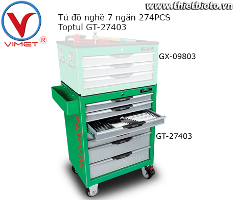 Tủ dụng cụ 7 ngăn 274PCS Toptul GT-27403