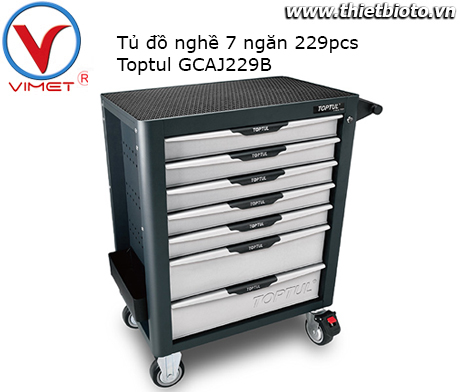 Tủ đồ nghề 7 ngăn 229pcs Toptul GCAJ229B