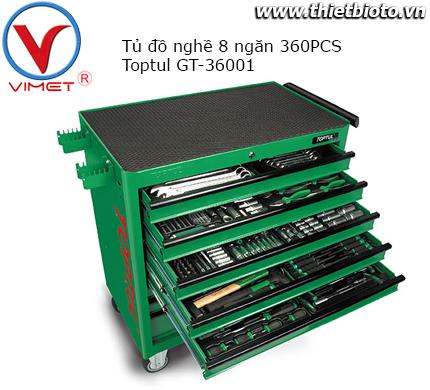 Tủ đồ nghề 8 ngăn 360 chi tiết Toptul GT-36001